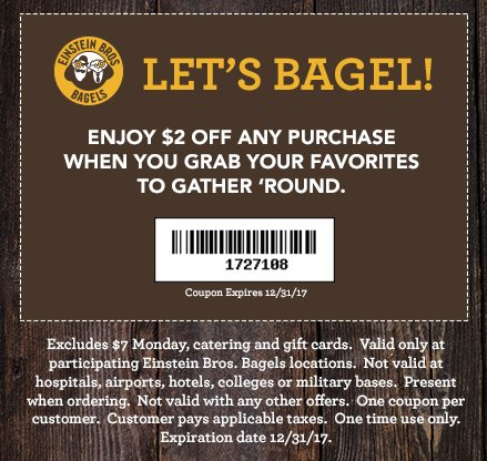 einstein bagels coupon
