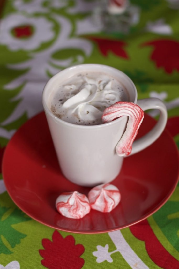 Peppermint Meringue Kisses & Candy Canes