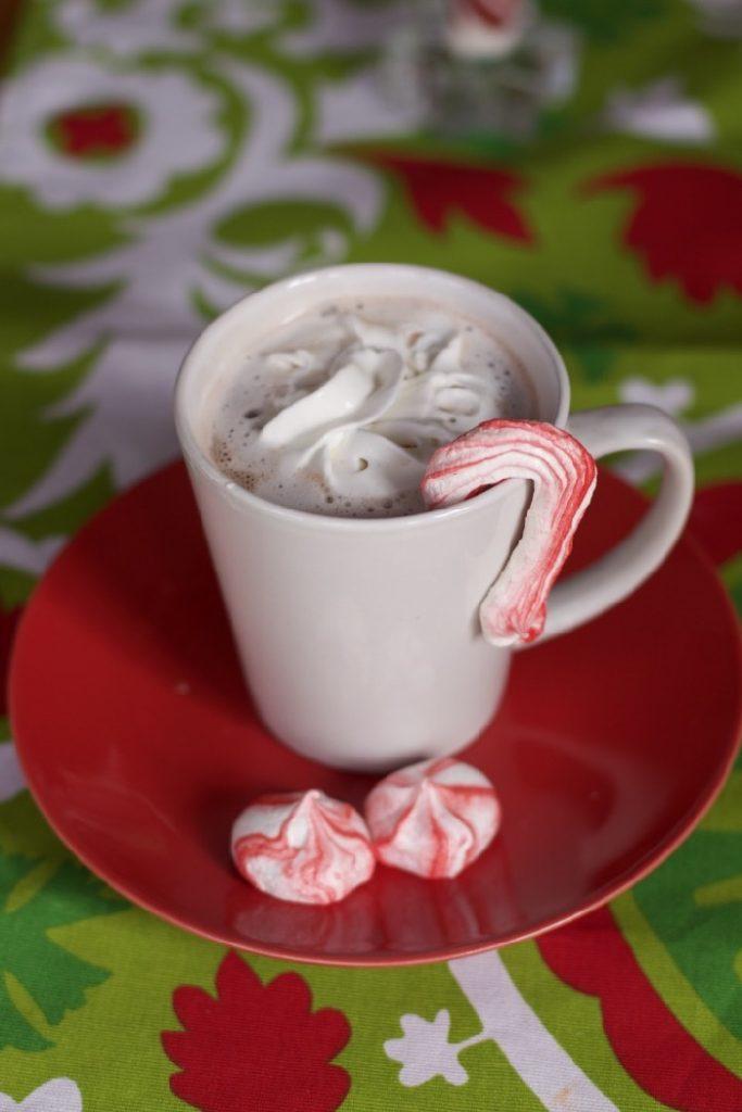 Peppermint Meringue Kisses & Candy Canes
