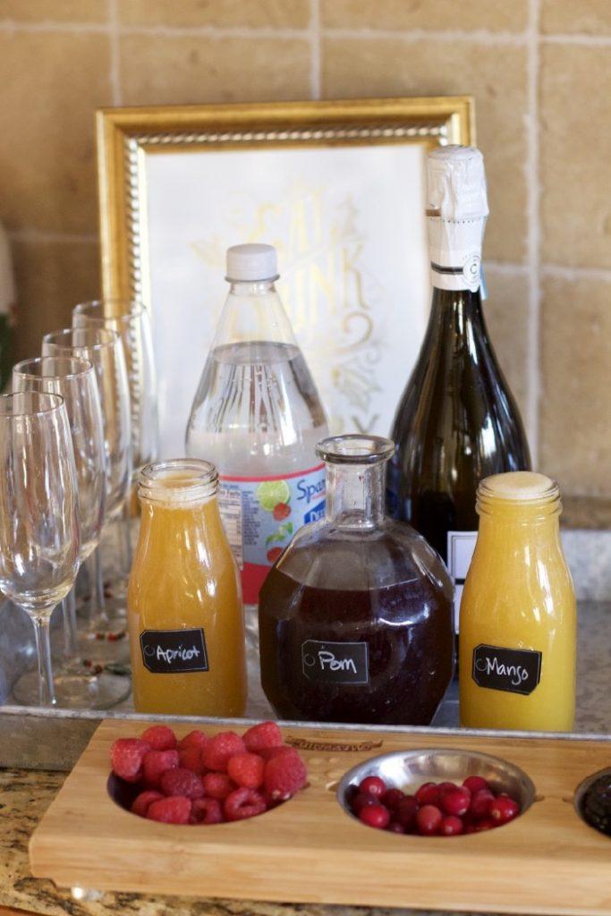 sparkling juice bar sparkling wine bar