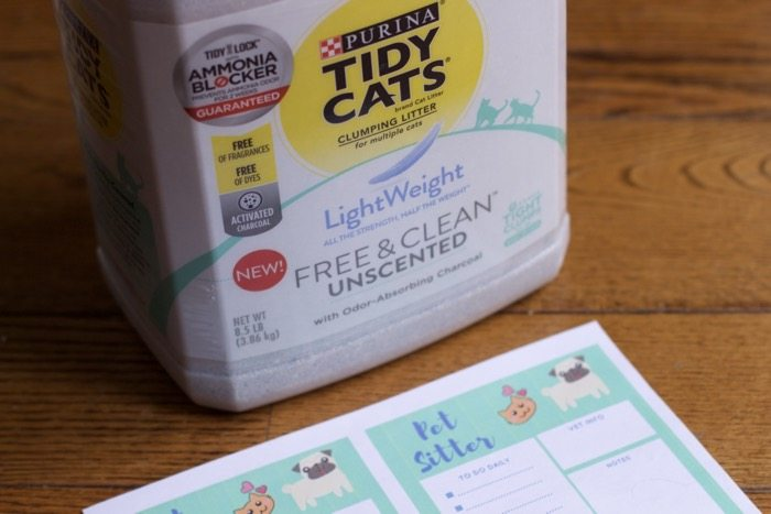 Prepare Your Dog and Cat Sitter with A Free Pet Sitter Printable