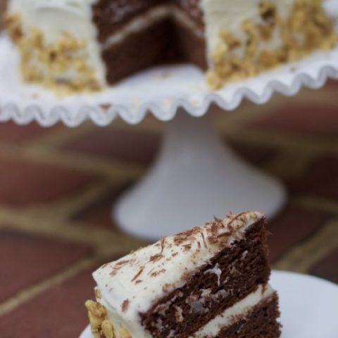 Chocolate Banana Sour Cream Cake