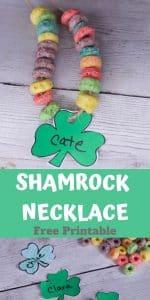 shamrock printable necklace
