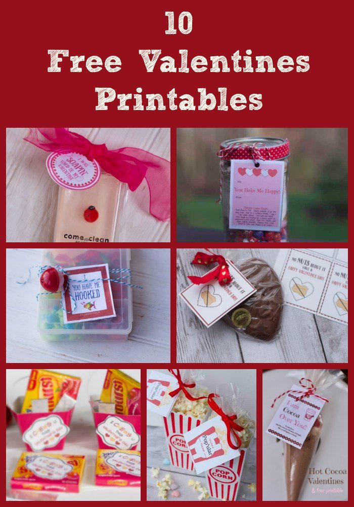 photo regarding Printable Teacher Valentine Cards Free known as 10 Free of charge Valentines Printables For Valentines Working day Get-togethers or