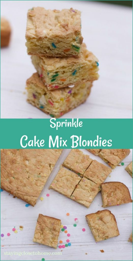 Blondies Recipe with cake Mix