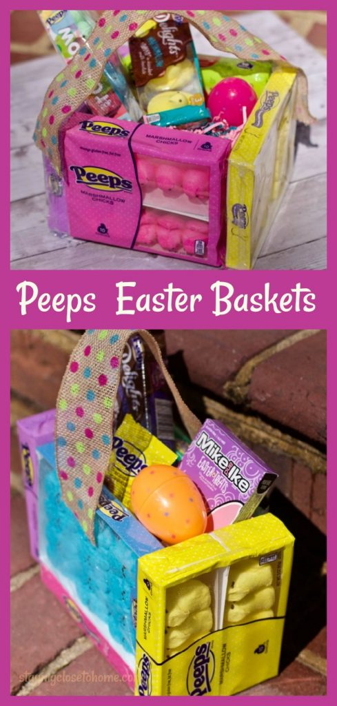 Peeps candy DIY easter basket ideas pin