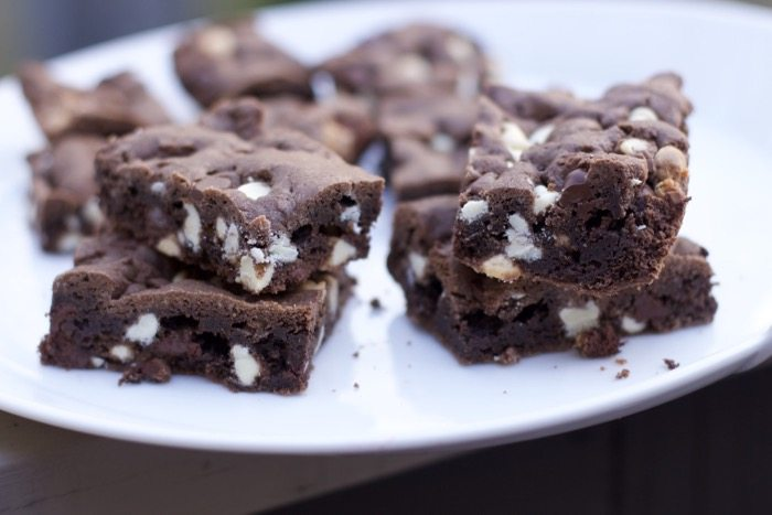 Cookie Bars made from Chocolate Cake Mix