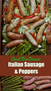 Incredibly Easy Italian Sausage and Pepper Sheet Pan Dinner