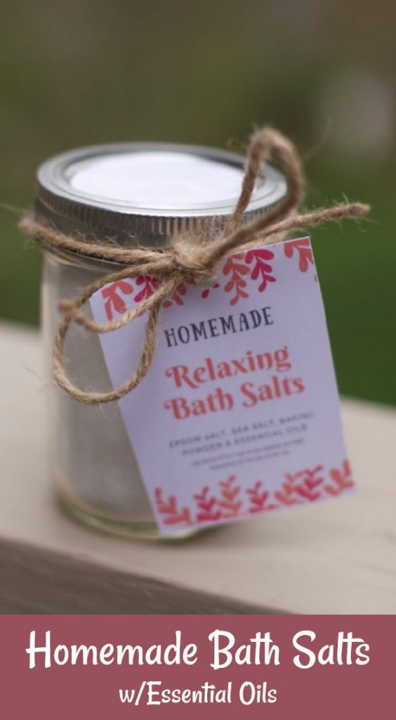 Mothers Day Gift, Homemade Bath Salts with Essential oils