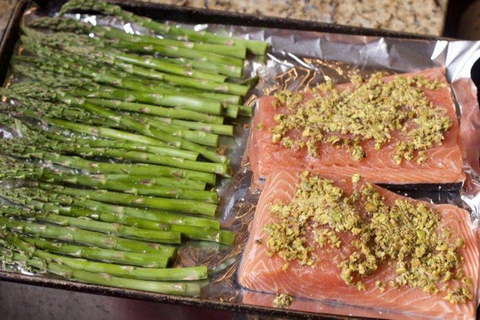Roasted salmon sheet pan dinners