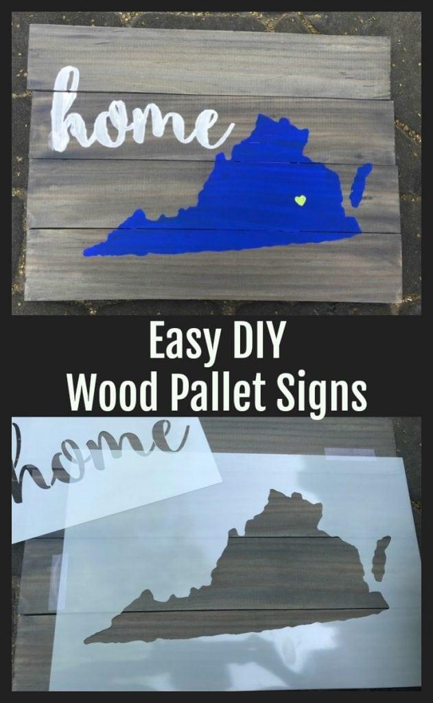 easy DIY wood Pallet Sign