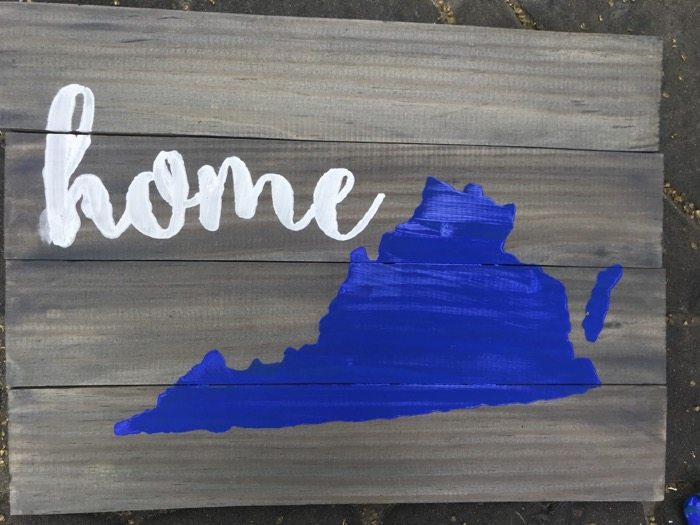pallet art signs home state wooden sign