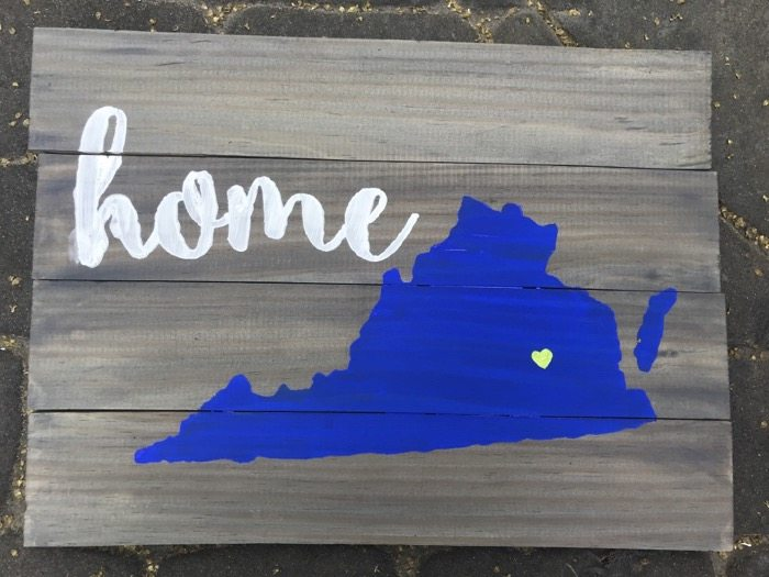 How to Make Wood Pallet Art  (Stencil State Sign)