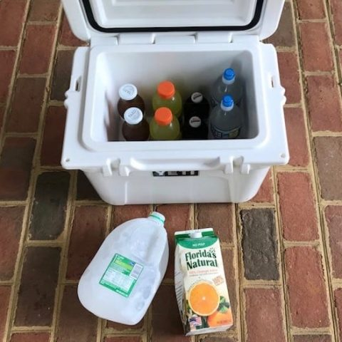 ow to pack a cooler with drinks