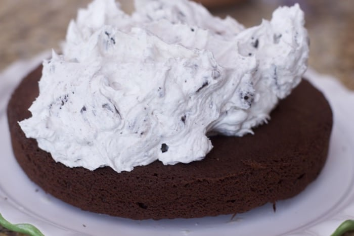 Chocolate Cake with Cookies and Cream Filling ( OREO Cake Recipe)