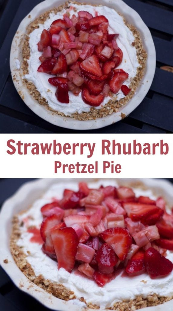 Strawberry Rhubarb Pretzel Pie Recipe