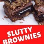 slutty brownies oreo brownies