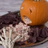 Spooky Halloween Dip Display (ROTEL Sausage Dip Recipe)