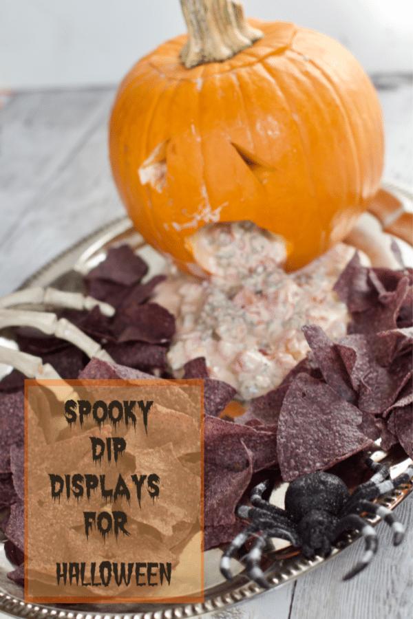 Spooky Halloween Dip Display (RO*TEL Sausage Dip Recipe)