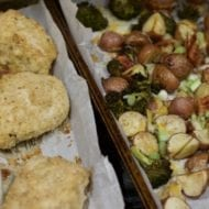 Easy Sheet Pan Dinner Recipes-Baked Chicken and Roasted Vegetables
