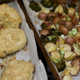 Crispy Baked Chicken Recipe sheet pan dinner