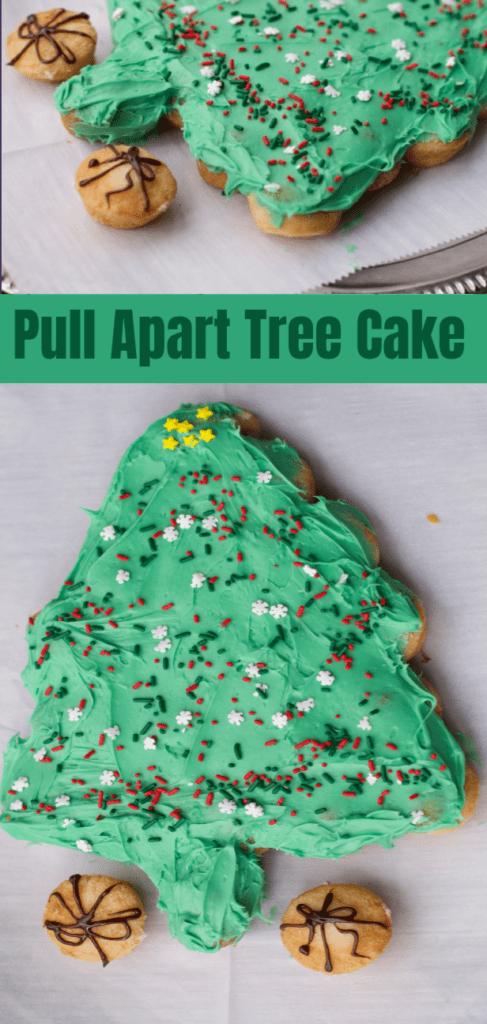 Christmas Tree Pull apart Cupcake Cake