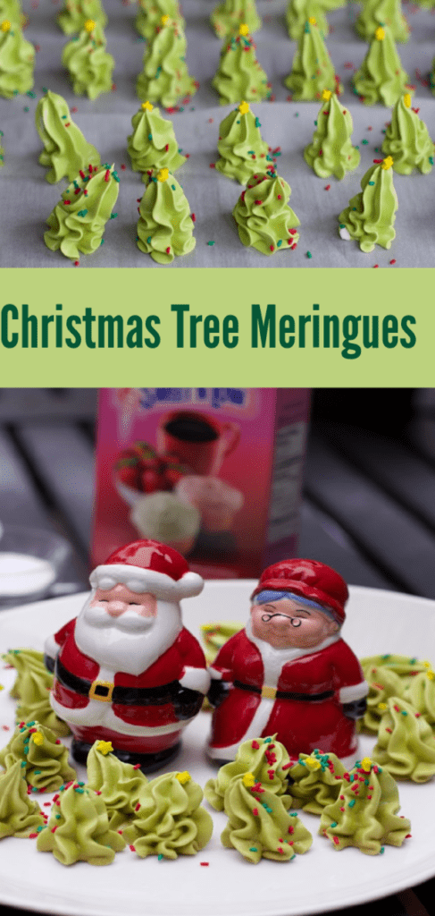 How to Make Christmas Tree meringues Meringue Christmas Trees