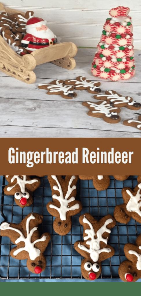 Fun Twist On A Gingerbread Boy Cookie Reindeer Cookies