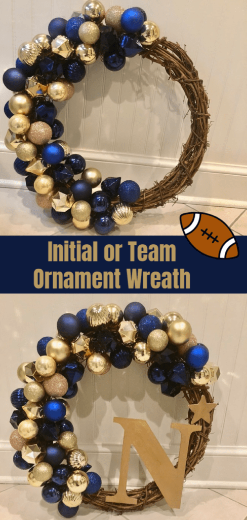 Army Navy Ornament wreath tutorial