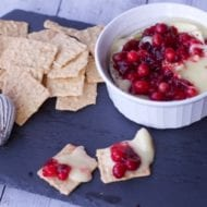 Creamy Baked Brie with Cranberry Compote
