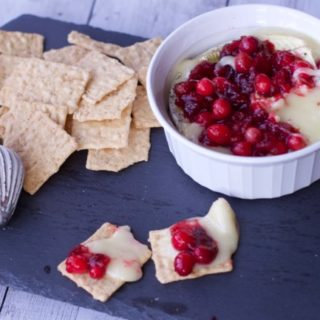 Creamy baked brie with Cranberry Compote FB