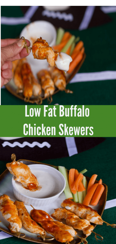 Low Fat Buffalo Chicken Skewers- Boneless Buffalo Chicken Wings