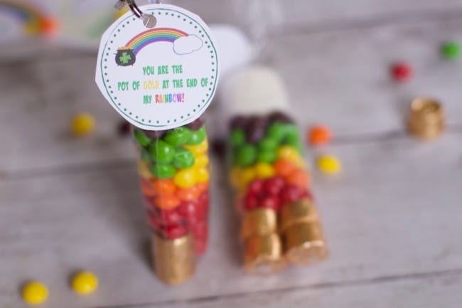 Skittles Rainbow St Patricks Day Treat Bags