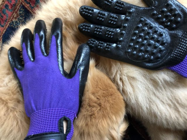 Hands on pet gloves