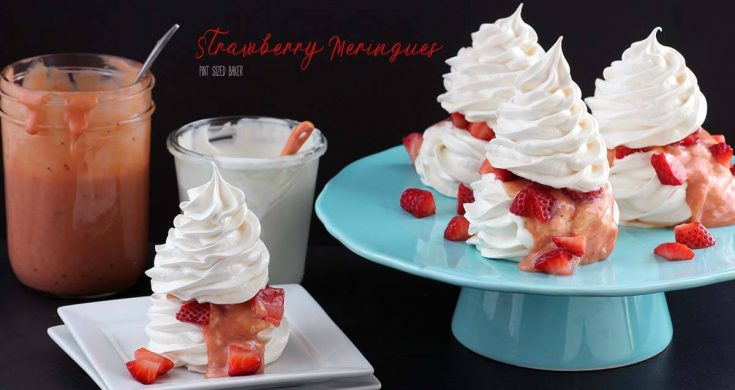 Strawberry Meringues Recipe - Pint Sized Baker