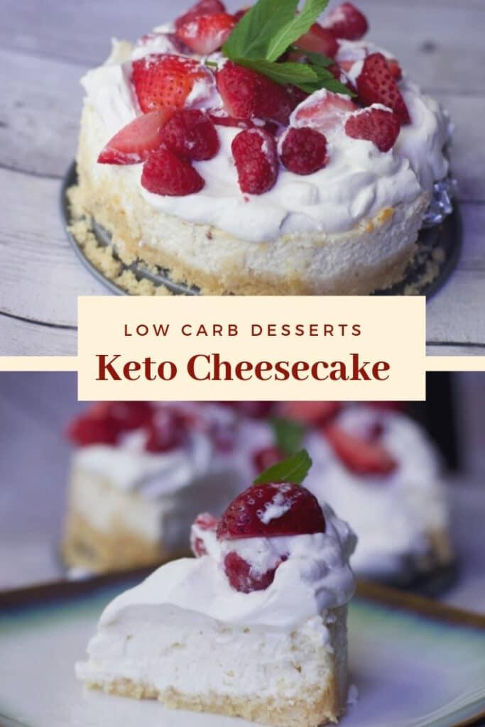 Keto Cheesecake low carb dessert