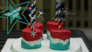4th of July Firecracker Marshmallow Pops