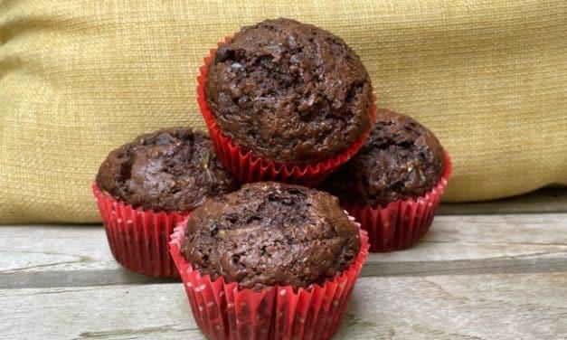 Amazing Low fat Chocolate Zucchini Muffins