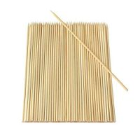 Yu family 200 Pieces Natural BBQ Bamboo Skewers 10 inch for Shish Kabob, Grill, Appetizer, Fruit, Corn, Chocolate Fountain, Cocktail and More Food eco Friendly and Healthy