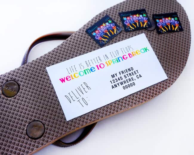 A Fun Way to send Flip Flops to Your Friends for Summer