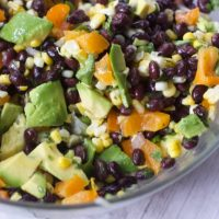 Black Bean Salad with Avocado  & Lime Dressing