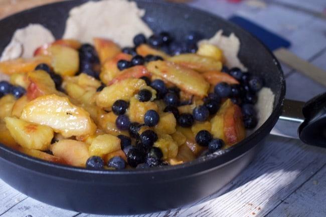 Peach Blueberry Skillet Dessert Pan 2