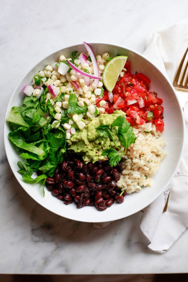 Instant Pot Chipotle Burrito Bowls with Black Beans and Brown Rice