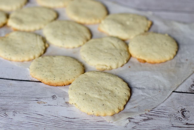 Lemon Poppy Seed Cookies for Berry Ice Cream Sandwiches