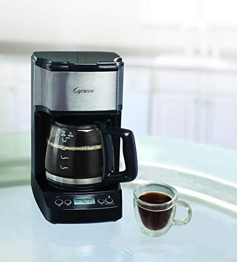 Capresso 426.05 5-Cup Drip Mini Coffeemaker, Black/Silver