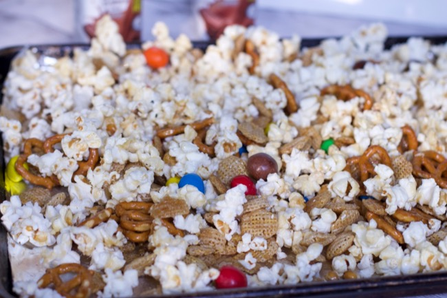 popcorn Snack Mix recipes back to school snacks