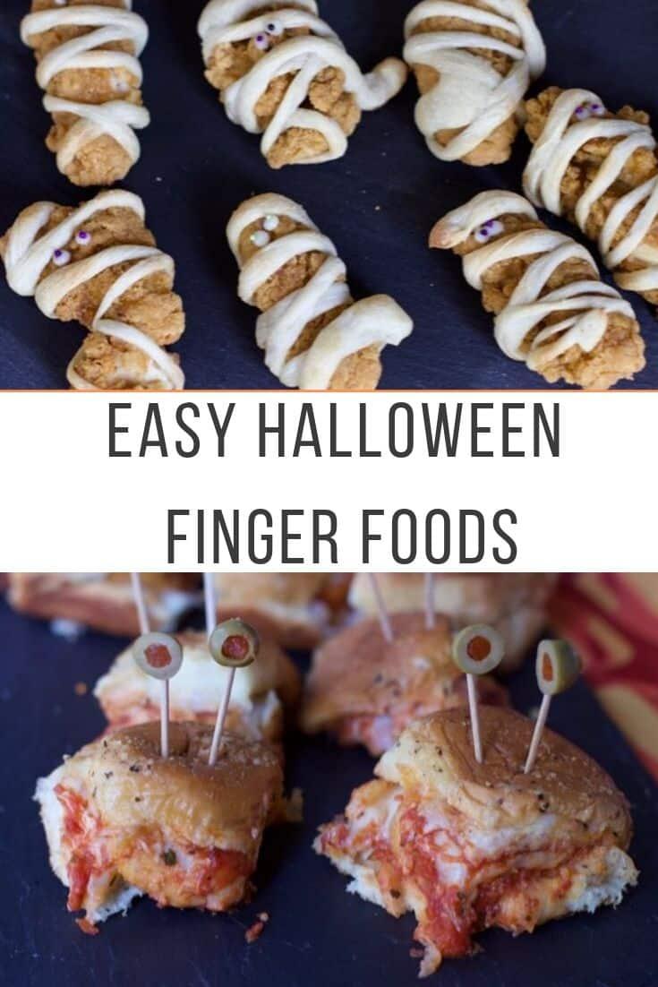 Halloween-Finger-Food Chicken-Strip chicken nuggets