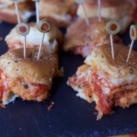 Halloween Inspired Chicken Sliders Recipe