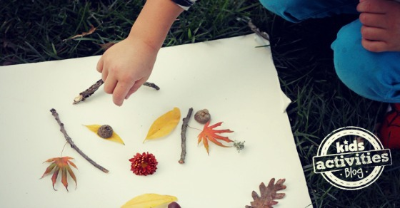 Fall Activity for Preschoolers: Drawing with Nature