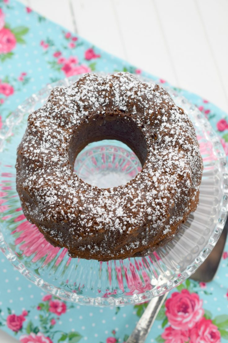 Air Fryer Chocolate Cake #Choctoberfest